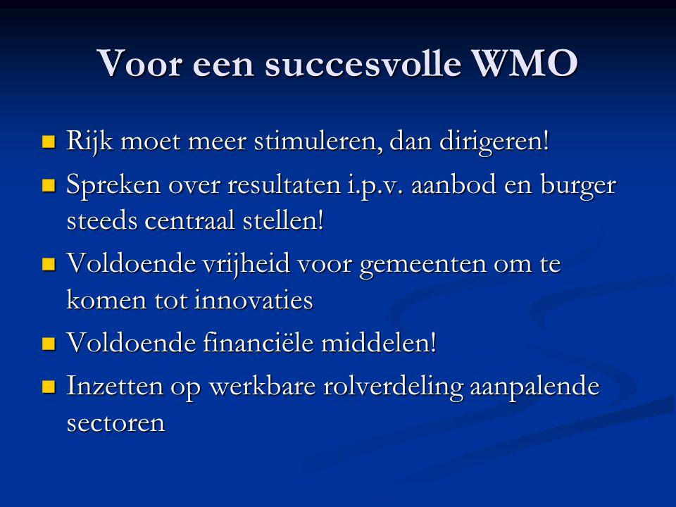 Voor een succesvolle WMO