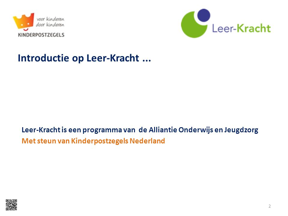 Introductie op Leer-Kracht ...