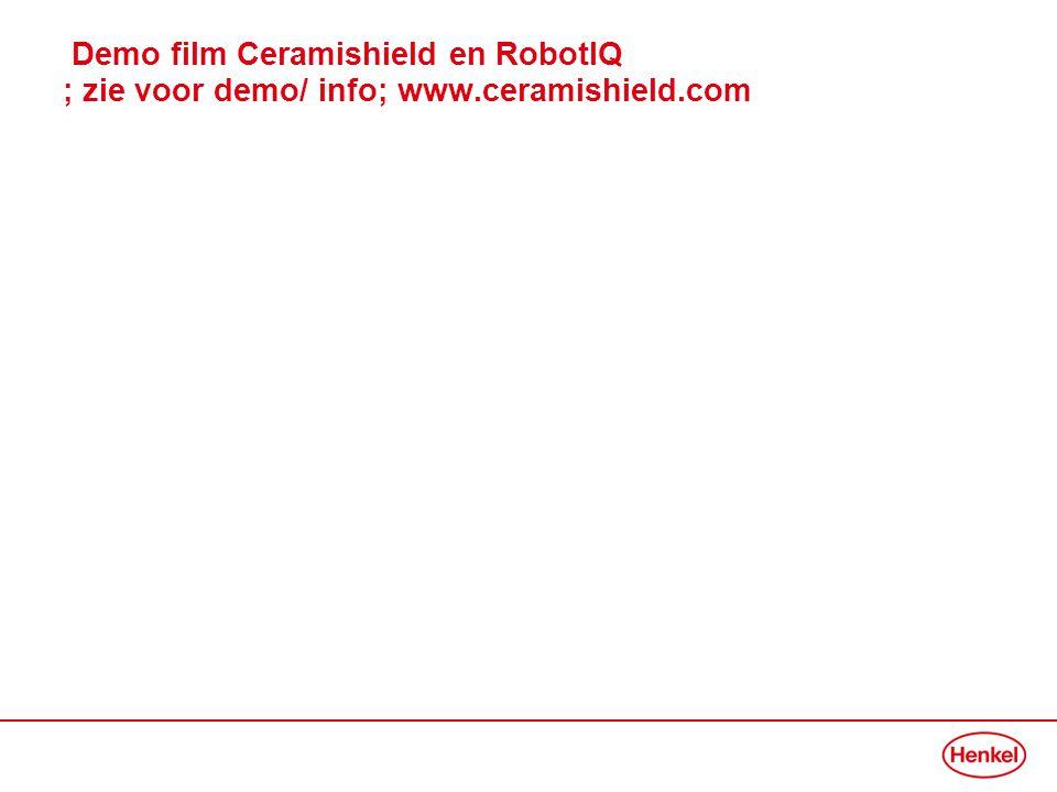 Demo film Ceramishield en RobotIQ ; zie voor demo/ info; www