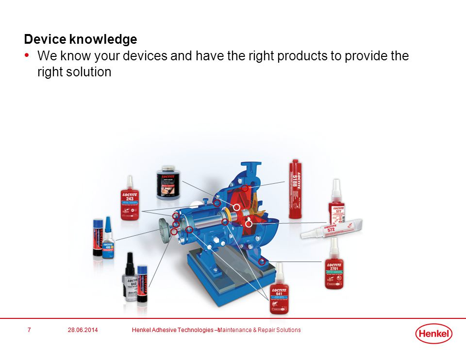 Device knowledge We know your devices and have the right products to provide the right solution. 7.