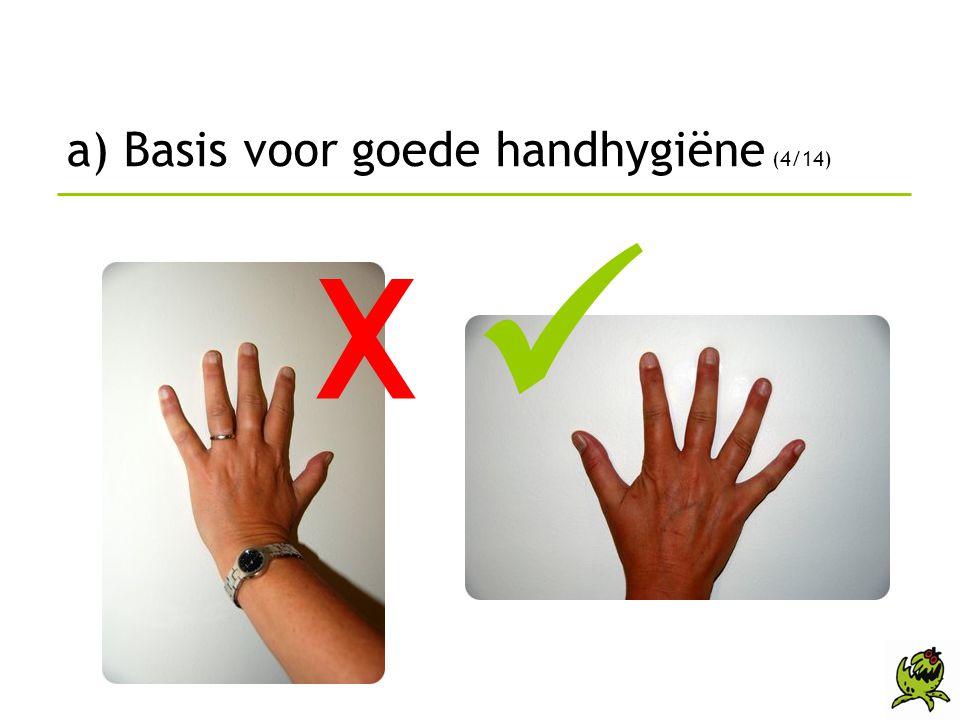 a) Basis voor goede handhygiëne (4/14)