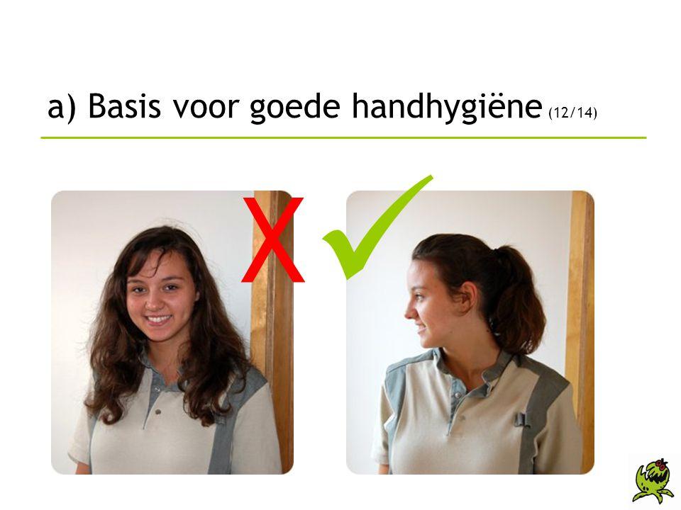 a) Basis voor goede handhygiëne (12/14)