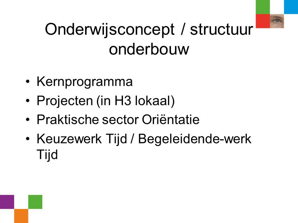 Onderwijsconcept / structuur onderbouw