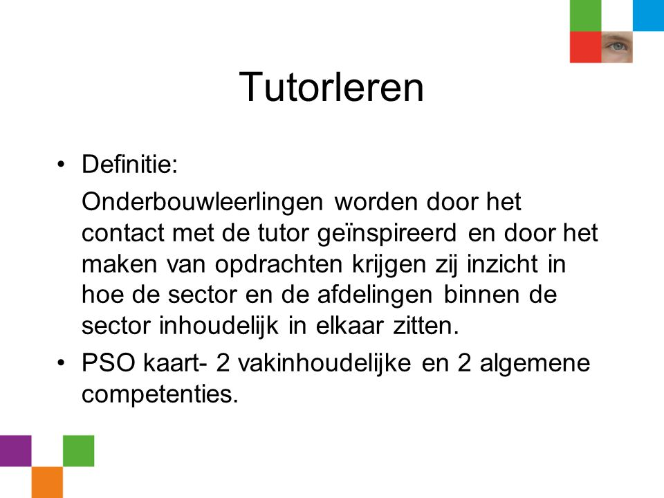 Tutorleren Definitie: