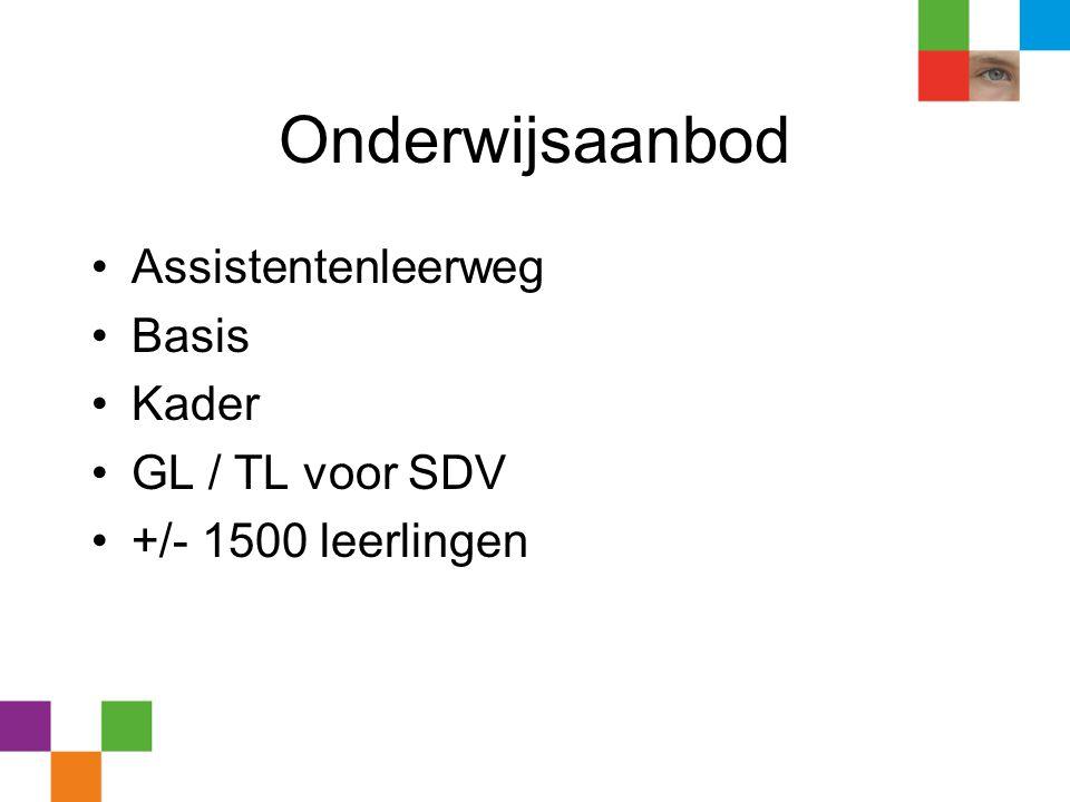 Onderwijsaanbod Assistentenleerweg Basis Kader GL / TL voor SDV