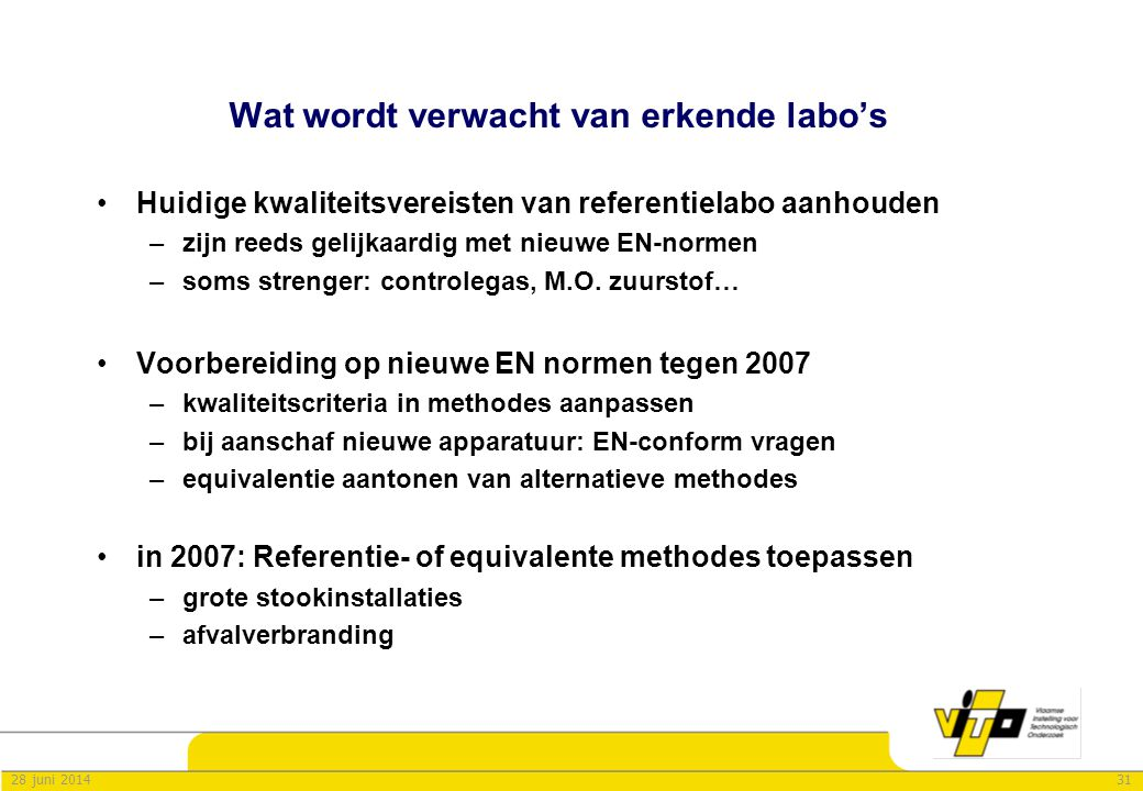Wat wordt verwacht van erkende labo's