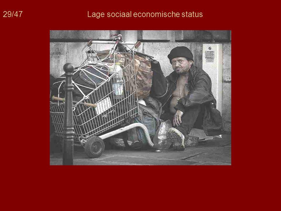 29/47 Lage sociaal economische status