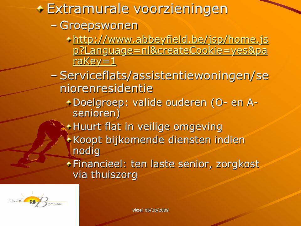Extramurale voorzieningen