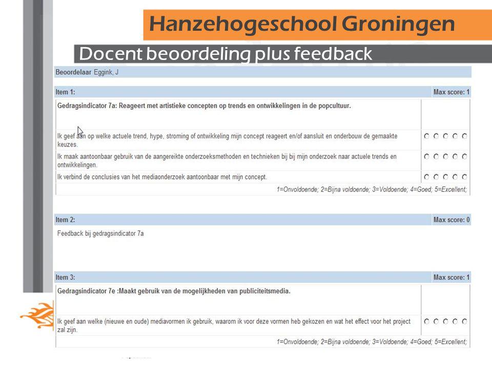 Docent beoordeling plus feedback