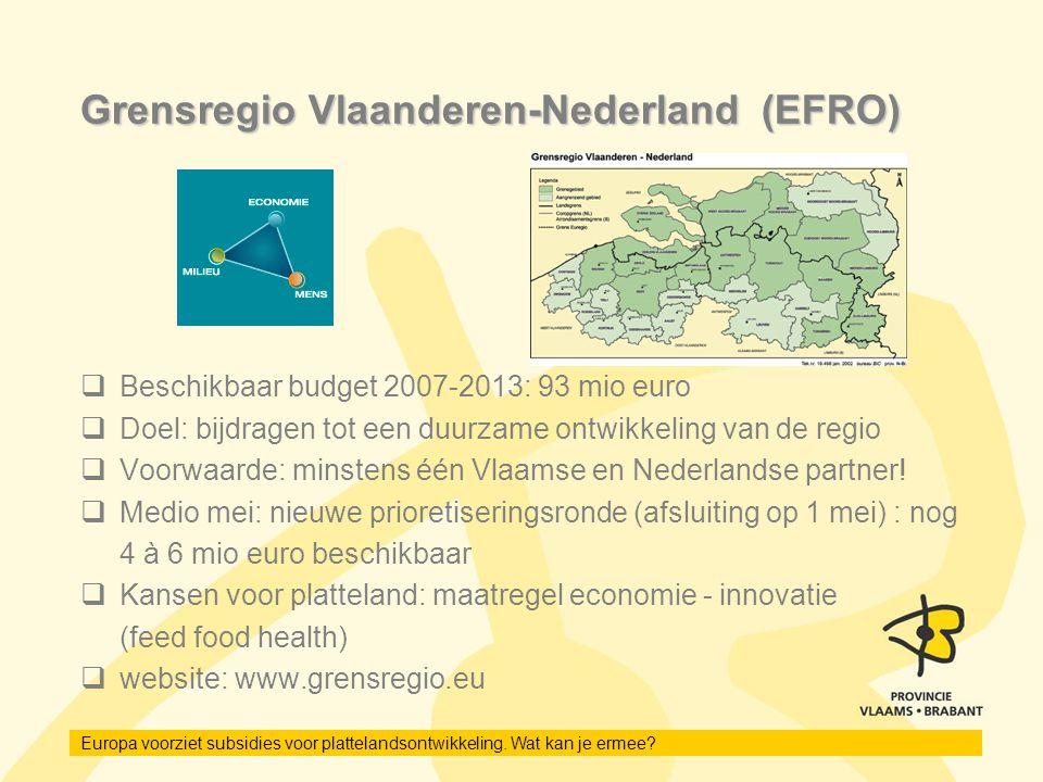 Grensregio Vlaanderen-Nederland (EFRO)