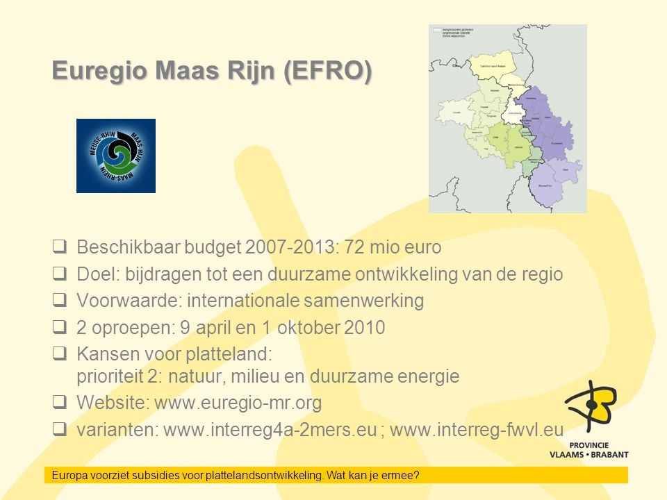 Euregio Maas Rijn (EFRO)