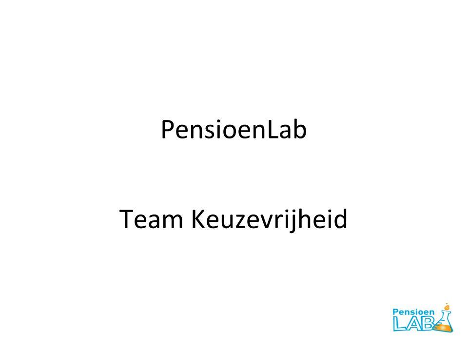 PensioenLab Team Keuzevrijheid
