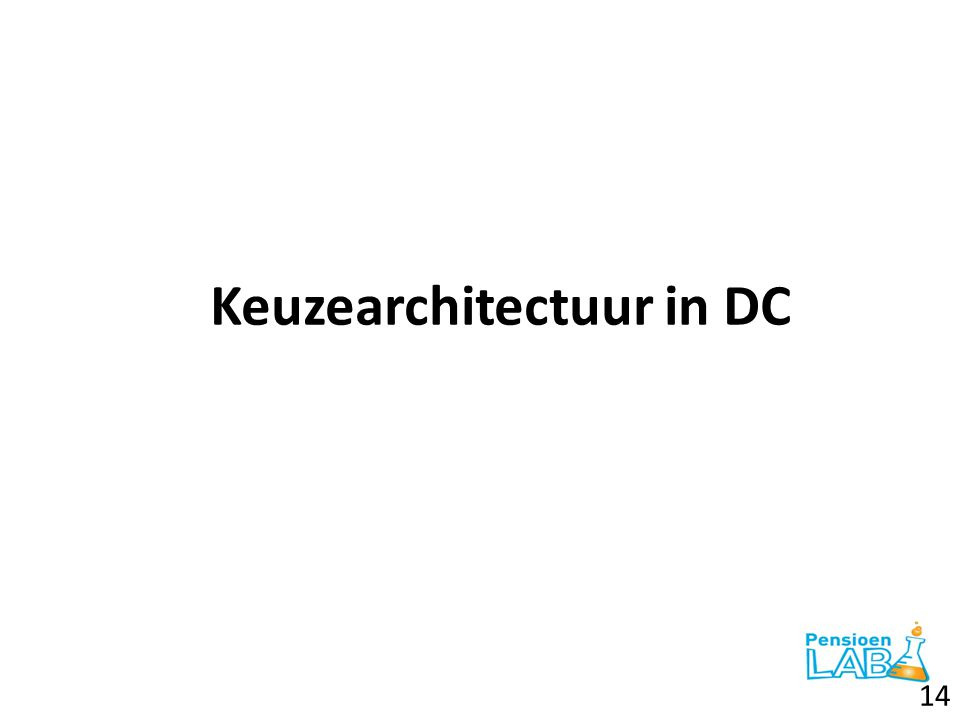 Keuzearchitectuur in DC
