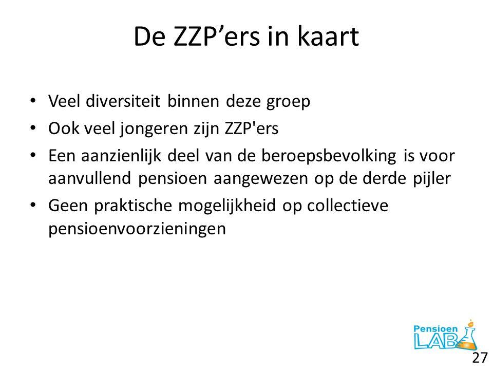 De ZZP'ers in kaart Veel diversiteit binnen deze groep