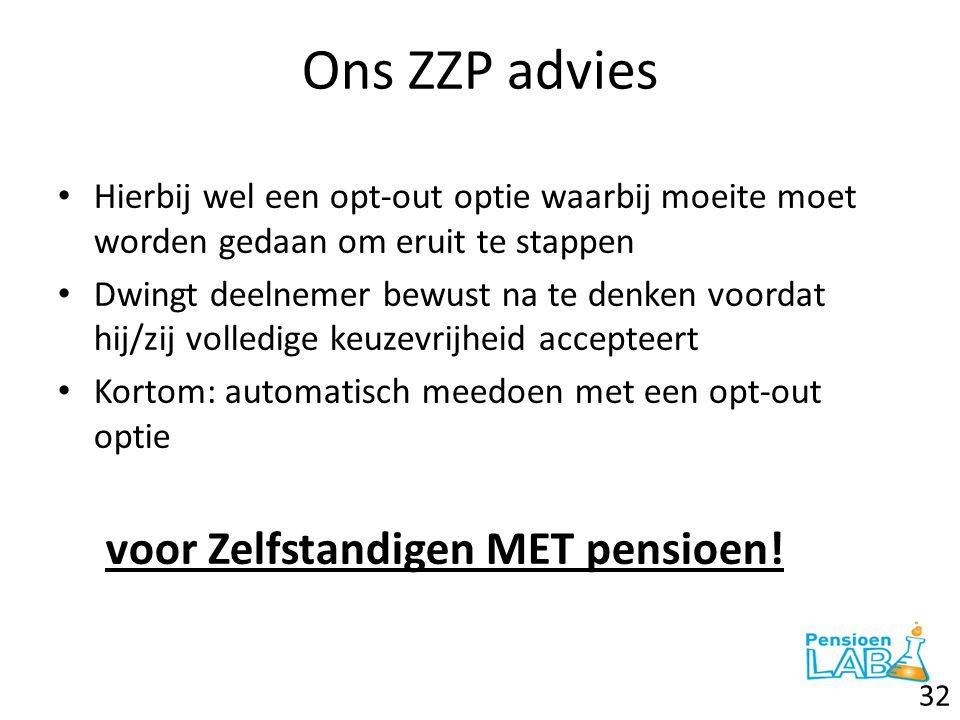 Ons ZZP advies voor Zelfstandigen MET pensioen!