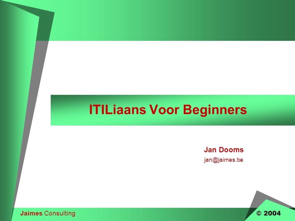 ITILiaans Voor Beginners