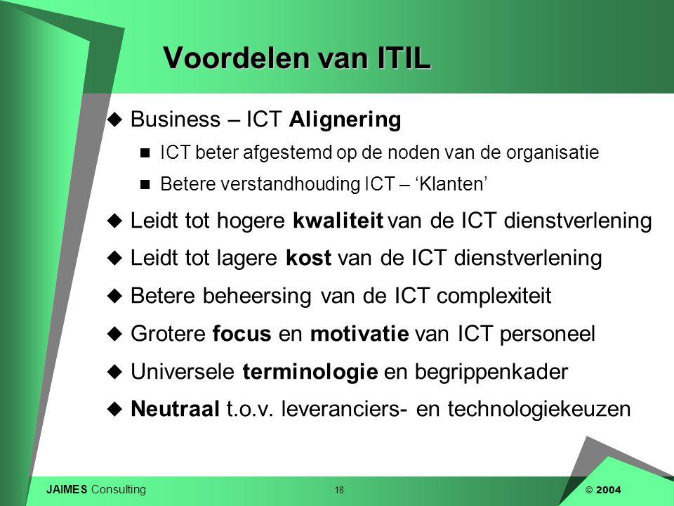 Voordelen van ITIL Business – ICT Alignering