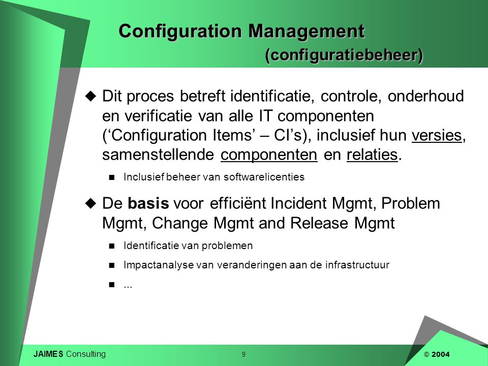 Configuration Management (configuratiebeheer)