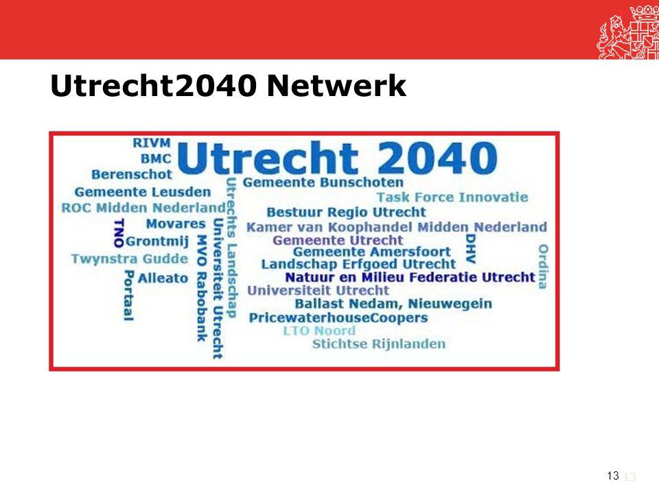 Utrecht2040 Netwerk De toekomst is nog ver weg, maar er zijn wel grote veranderingen nodig,