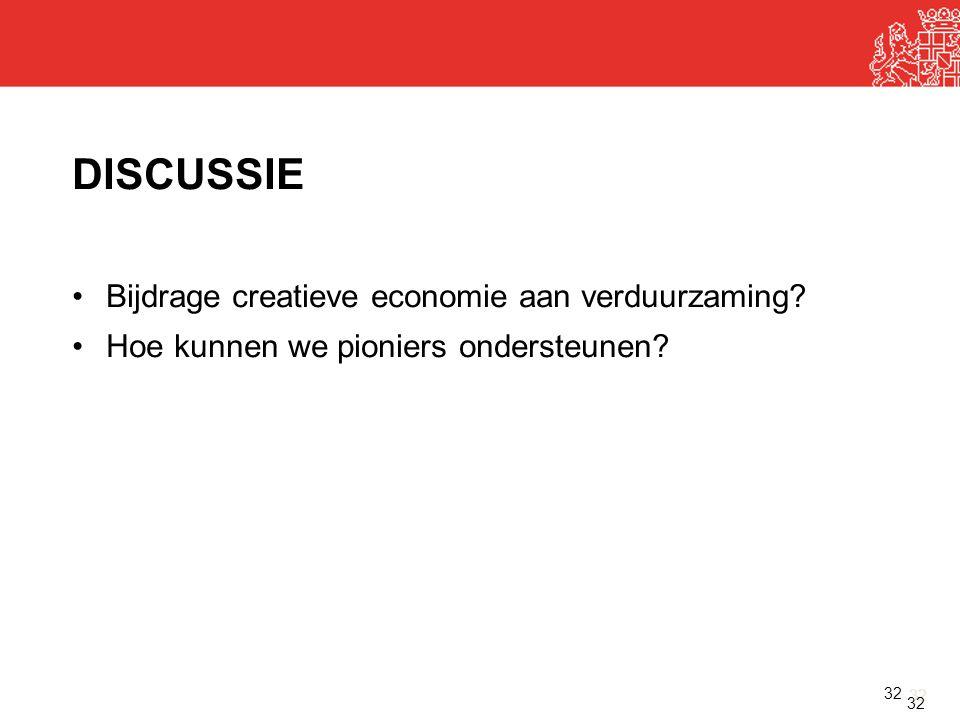 DISCUSSIE Bijdrage creatieve economie aan verduurzaming