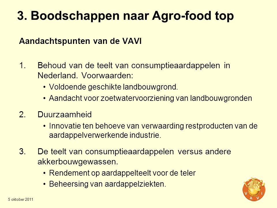 3. Boodschappen naar Agro-food top