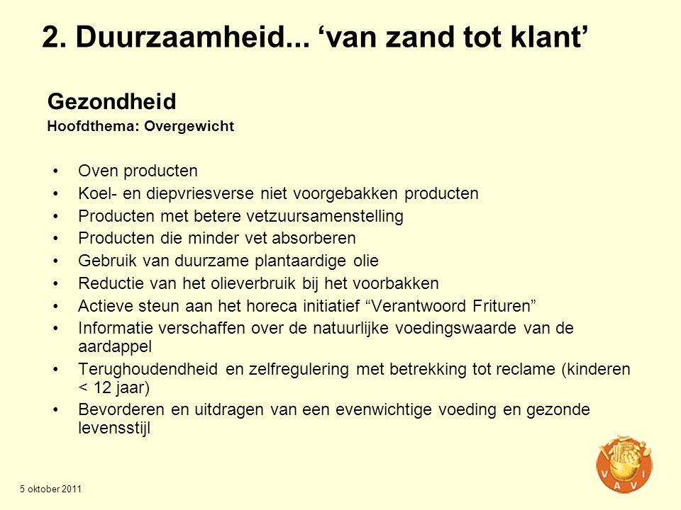 2. Duurzaamheid... 'van zand tot klant'