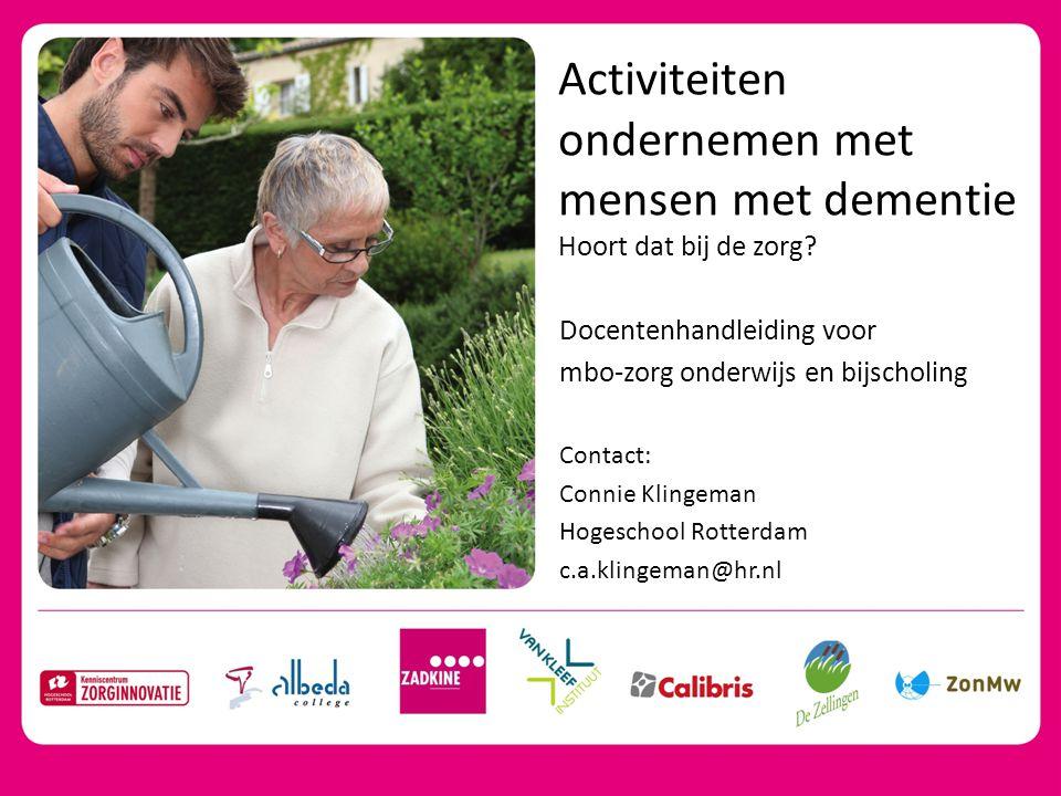 Activiteiten ondernemen met mensen met dementie