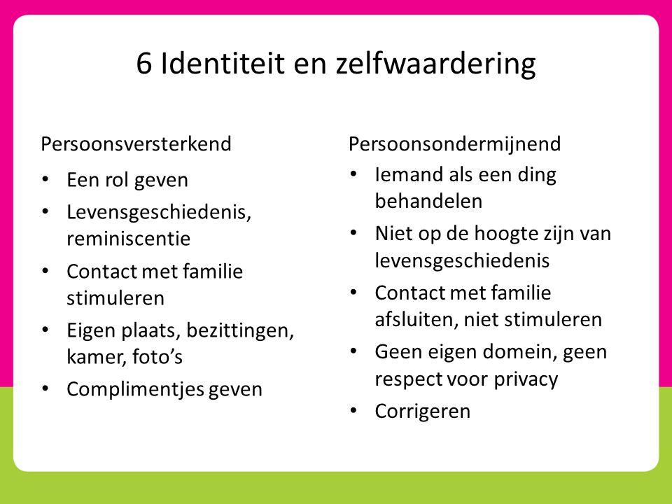 6 Identiteit en zelfwaardering