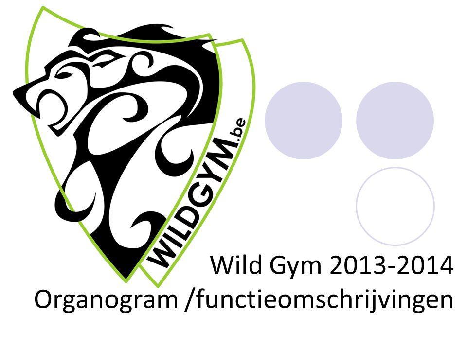 Wild Gym 2013-2014 Organogram /functieomschrijvingen