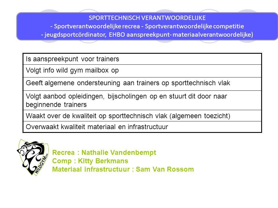 jeugdsportcördinator, EHBO aanspreekpunt- materiaalverantwoordelijke)