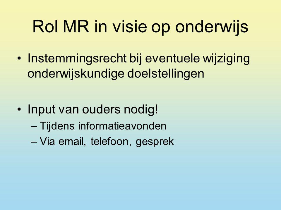 Rol MR in visie op onderwijs