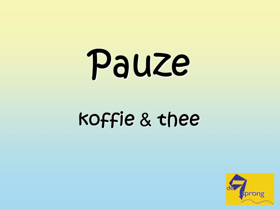 Pauze koffie & thee