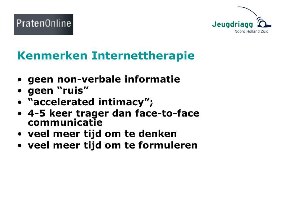 Kenmerken Internettherapie