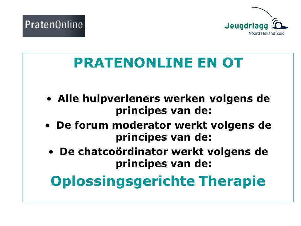PRATENONLINE EN OT Oplossingsgerichte Therapie