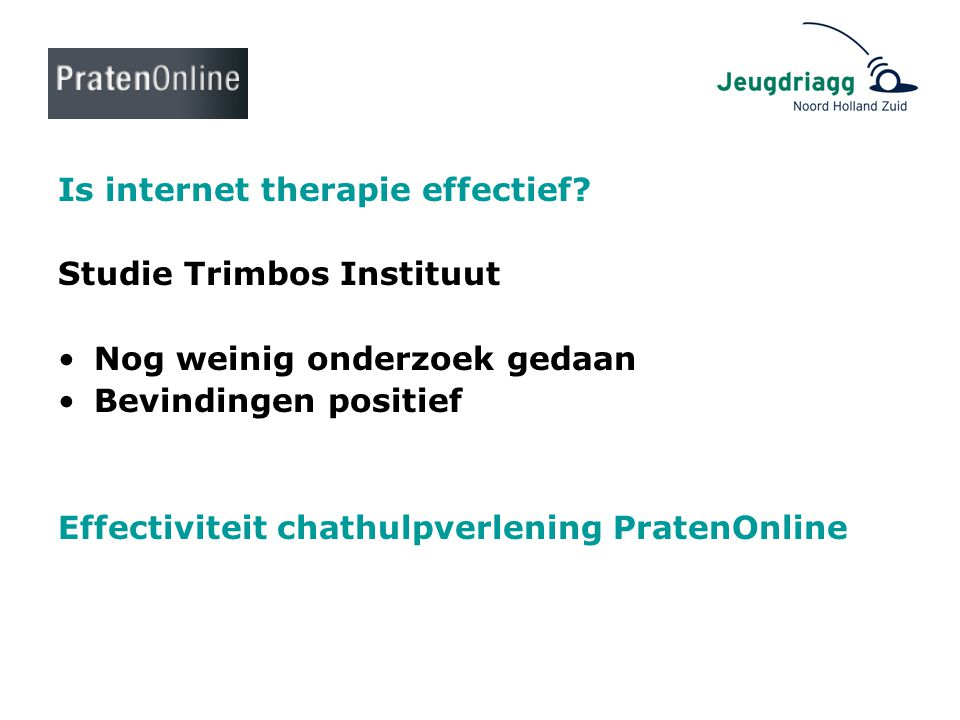 Is internet therapie effectief