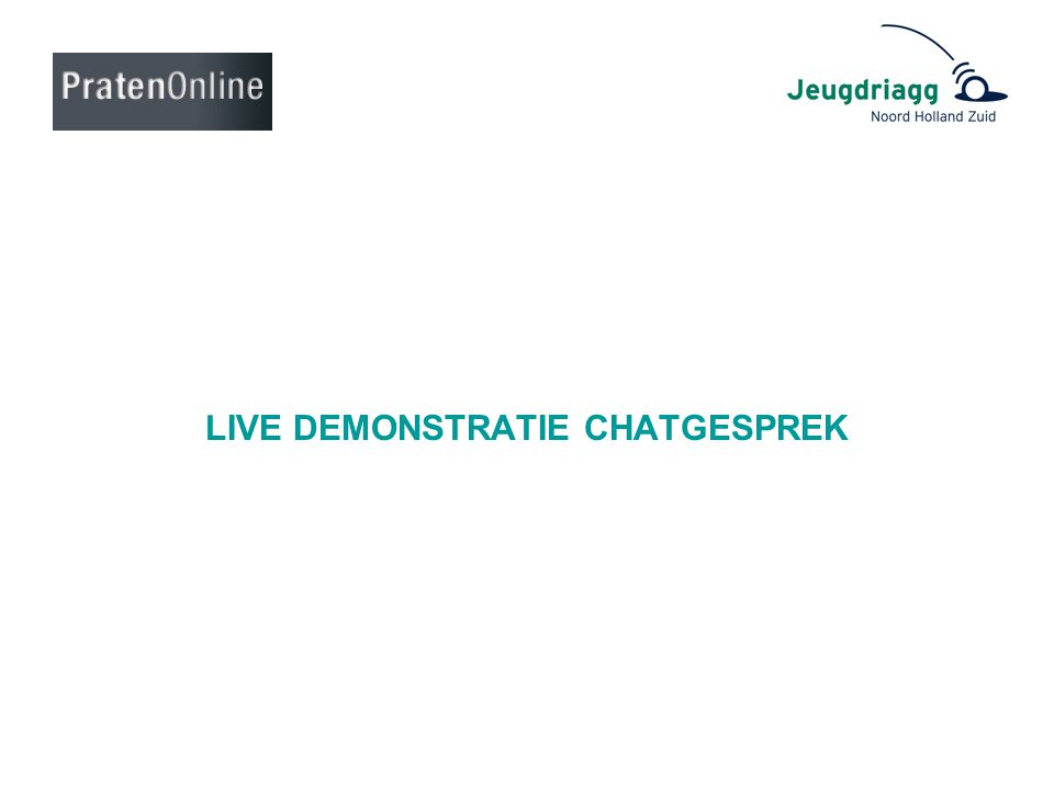 LIVE DEMONSTRATIE CHATGESPREK