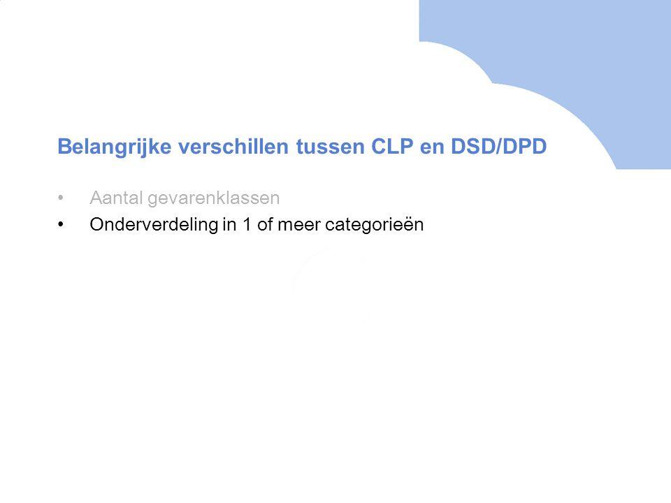 Belangrijke verschillen tussen CLP en DSD/DPD