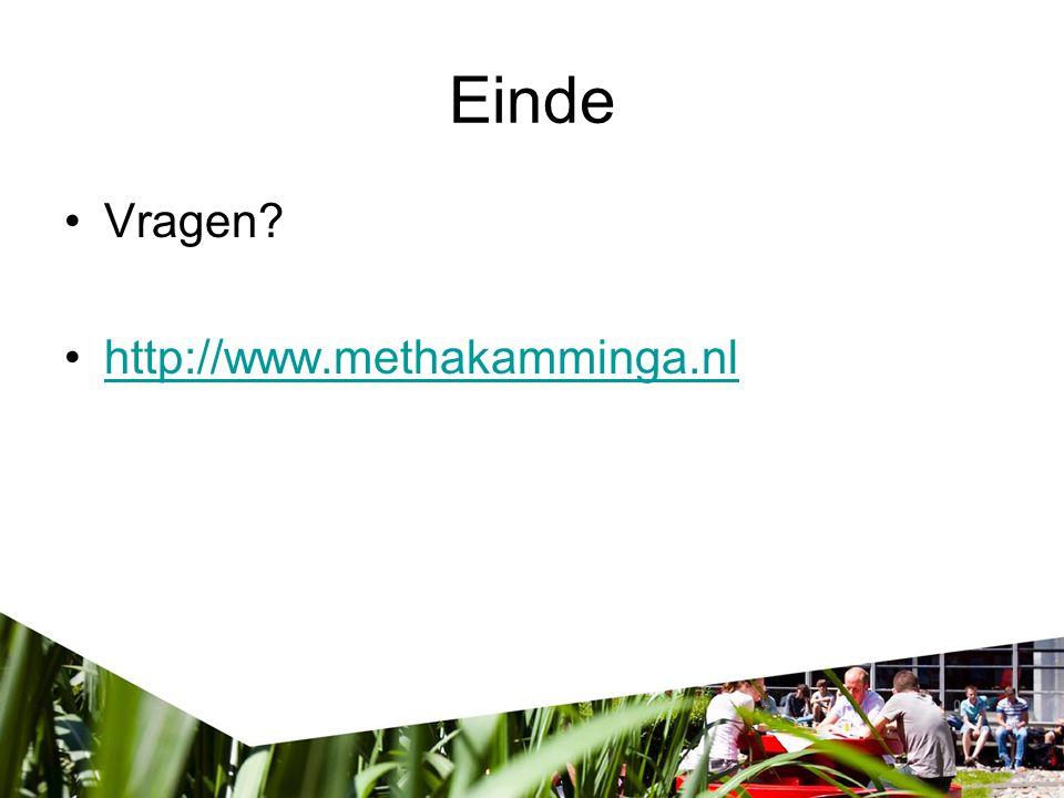 Einde Vragen http://www.methakamminga.nl