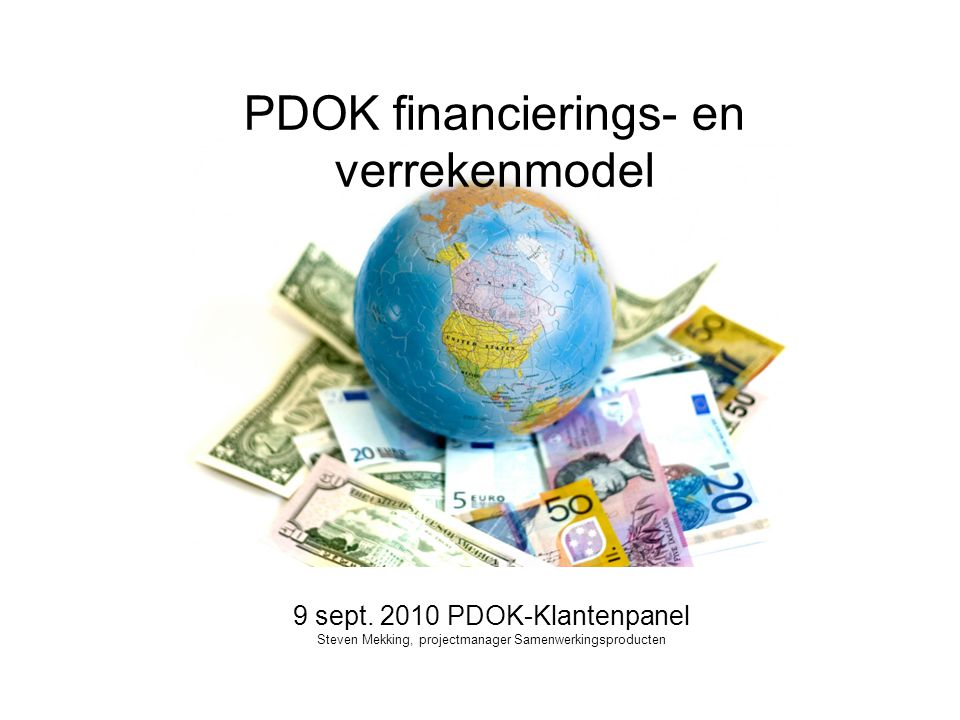 PDOK financierings- en verrekenmodel