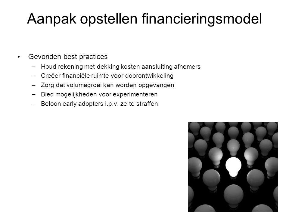 Aanpak opstellen financieringsmodel