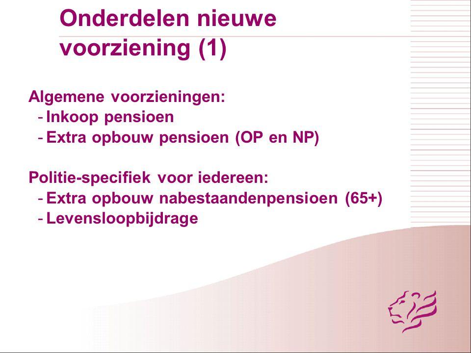 Onderdelen nieuwe voorziening (1)