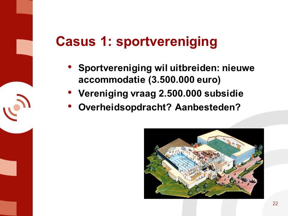 Casus 1: sportvereniging