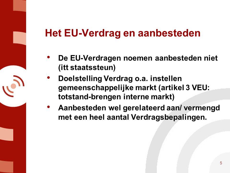 Het EU-Verdrag en aanbesteden