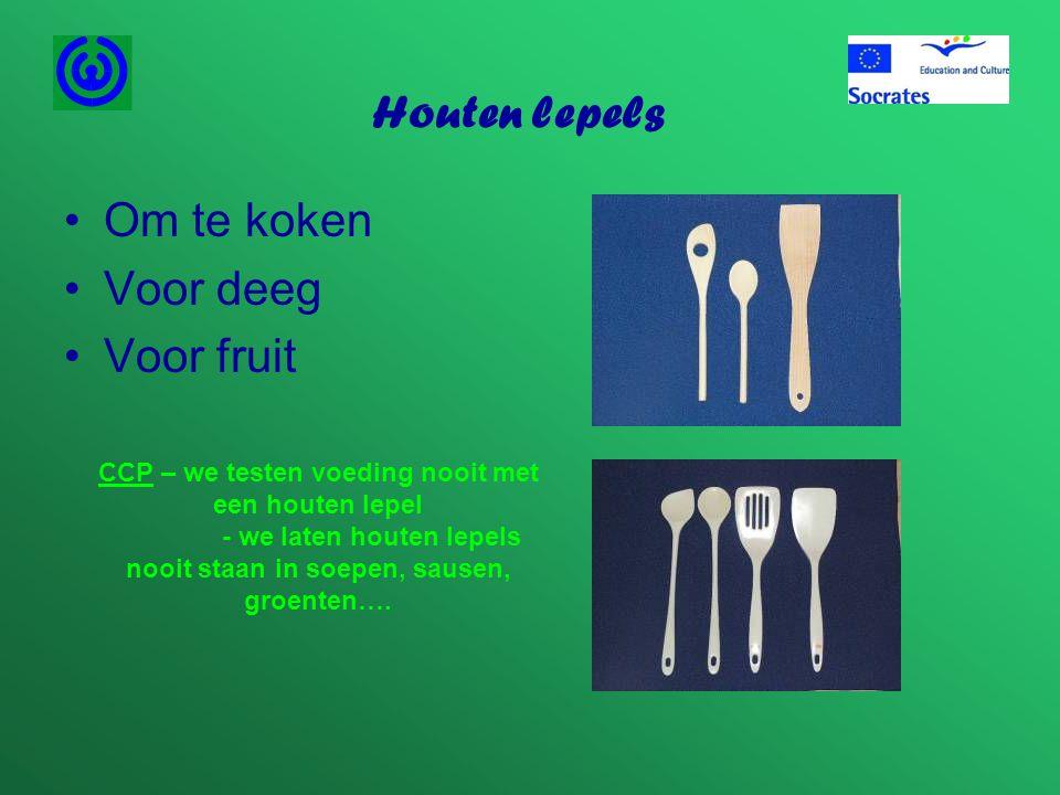 Houten lepels Om te koken Voor deeg Voor fruit