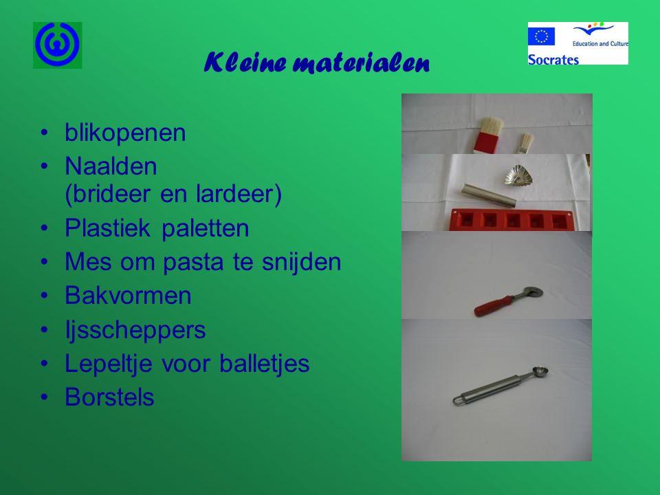 Kleine materialen blikopenen Naalden (brideer en lardeer)
