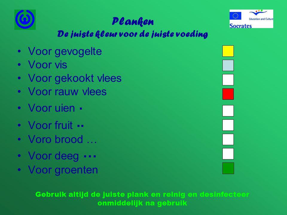 Planken De juiste kleur voor de juiste voeding