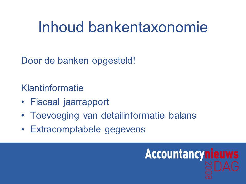 Inhoud bankentaxonomie