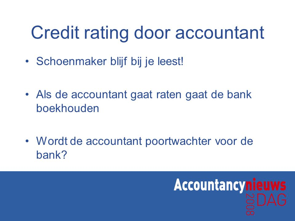 Credit rating door accountant