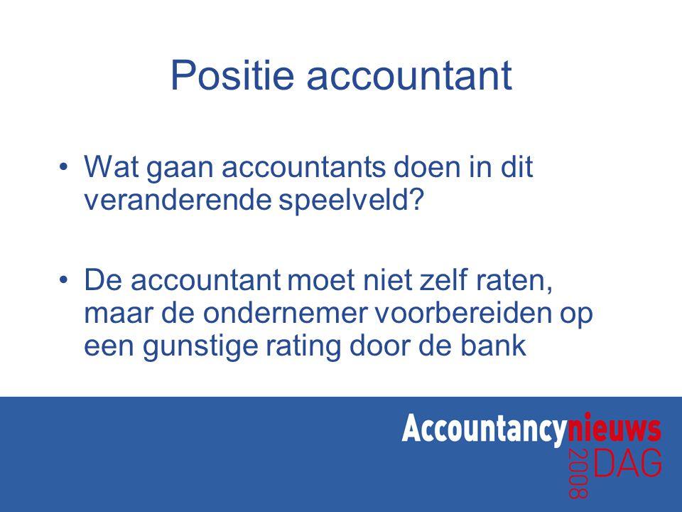 Positie accountant Wat gaan accountants doen in dit veranderende speelveld