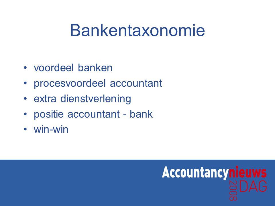 Bankentaxonomie voordeel banken procesvoordeel accountant